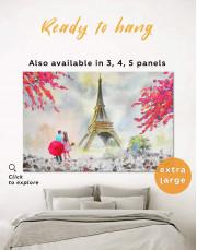 Couple in Paris City Canvas Wall Art - Image 0