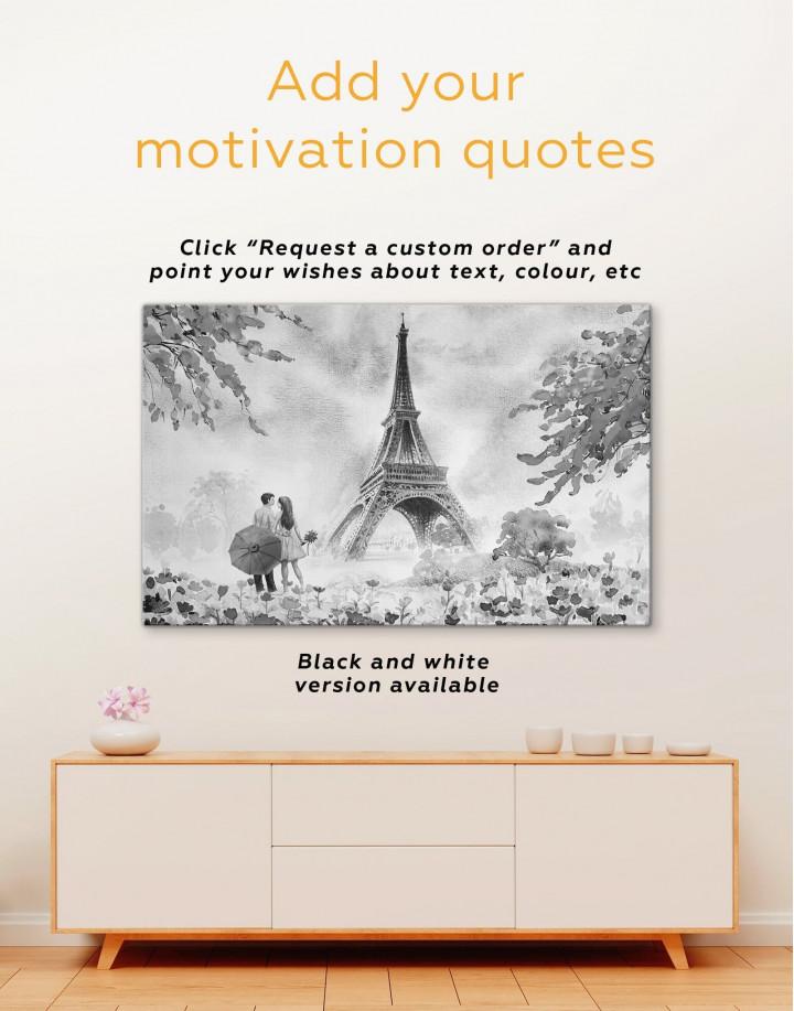 Couple in Paris City Canvas Wall Art - Image 3