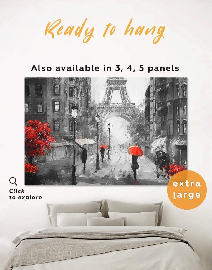 Rainy Paris Canvas Wall Art - Image 0
