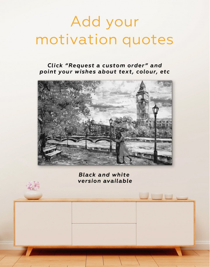 Romantic Couple Canvas Wall Art - Image 2