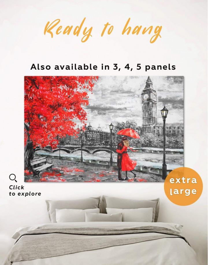 Romantic Couple Canvas Wall Art - Image 0