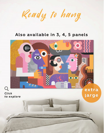 Abstract People Painting Canvas Wall Art