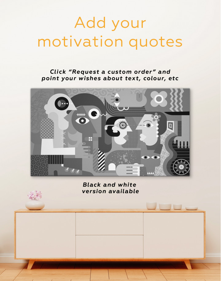 Abstract People Painting Canvas Wall Art - Image 1