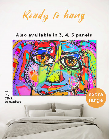Abstract Modern Face Painting Canvas Wall Art