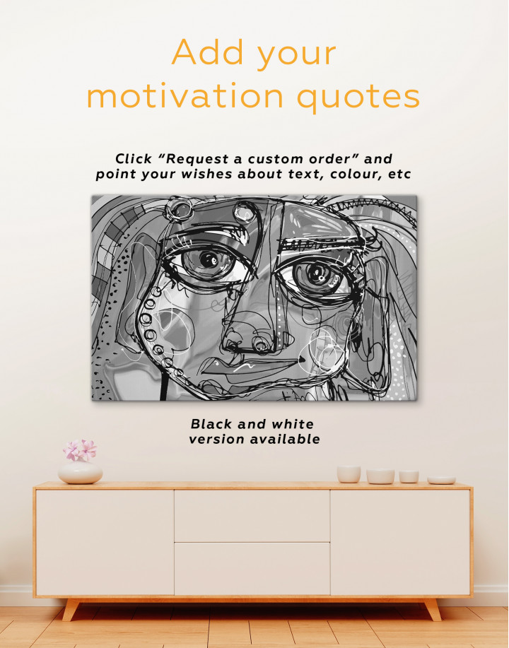 Abstract Modern Face Painting Canvas Wall Art - Image 3