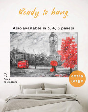 Romantic Couple Painting Canvas Wall Art - Image 0