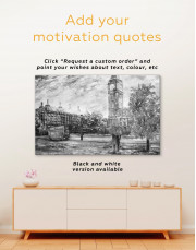 Romantic Couple Painting Canvas Wall Art - Image 3