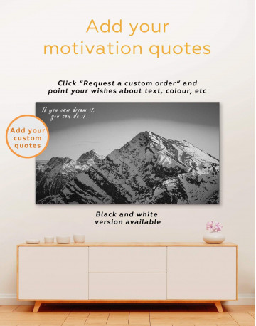 Snow Mountains Canvas Wall Art - image 1