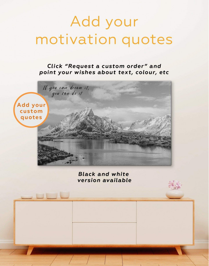 Snowy Mountains Canvas Wall Art - Image 3