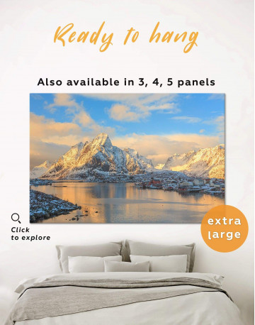 Snowy Mountains Canvas Wall Art