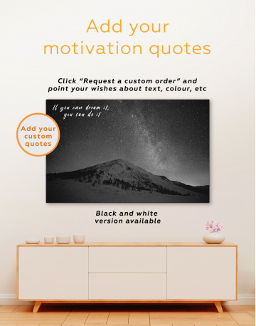 Night Sky in the Mountain Canvas Wall Art - image 3