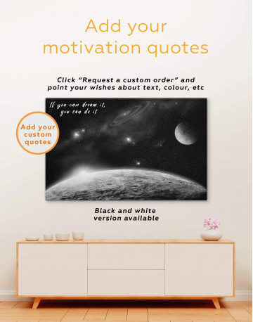 Outer Space Canvas Wall Art - image 1