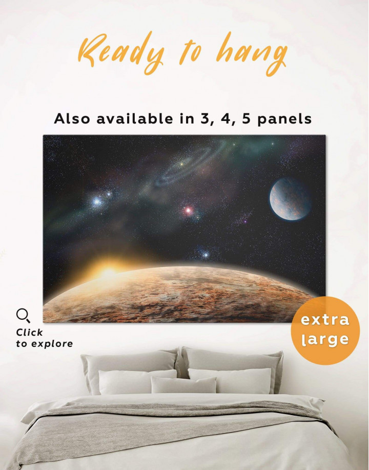 Outer Space Canvas Wall Art - Image 0