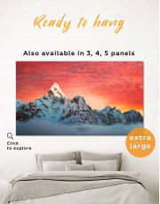 High Mountains Canvas Wall Art - Image 0