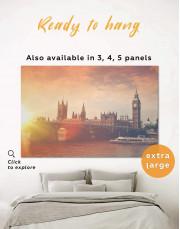 River Thames London Canvas Wall Art - Image 0