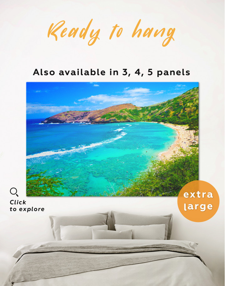 Mountain Ocean Beach Landscape Canvas Wall Art
