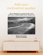 Mountain Ocean Beach Landscape Canvas Wall Art - Image 3
