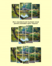 Wooden Bridge on a River Canvas Wall Art - Image 2