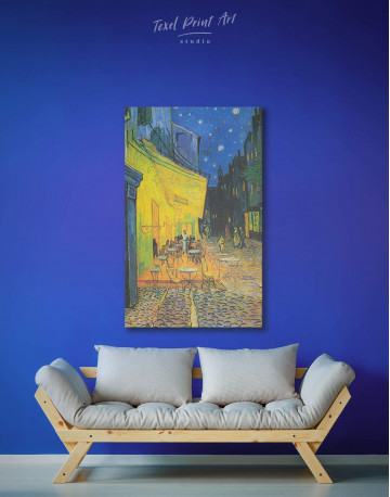 Cafe Terrace at Night Canvas Wall Art - image 2