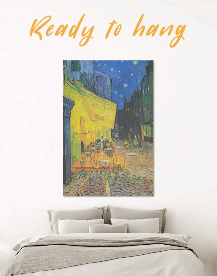 Cafe Terrace at Night Van Gogh Canvas Wall Art - Image 0