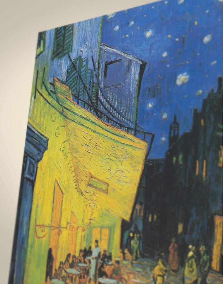 Cafe Terrace at Night Van Gogh Canvas Wall Art - Image 1
