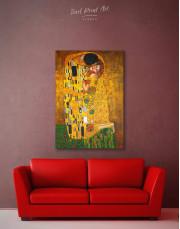 The Kiss by Gustav Klimt Canvas Wall Art - Image 2