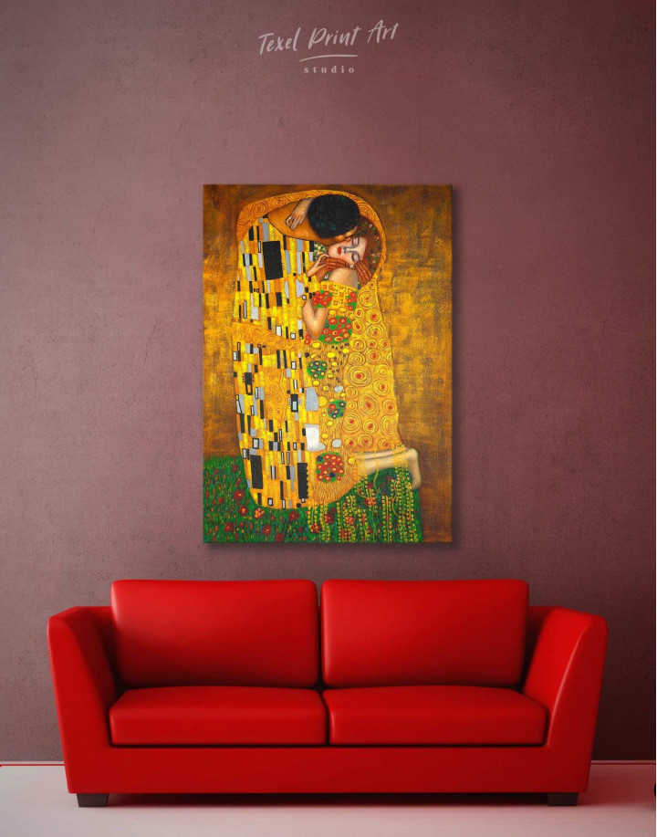 The Kiss by Gustav Klimt Canvas Wall Art - Image 2