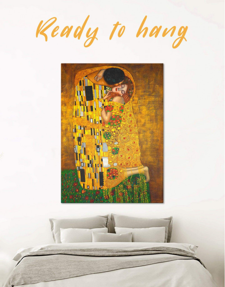 The Kiss by Gustav Klimt Canvas Wall Art - Image 0