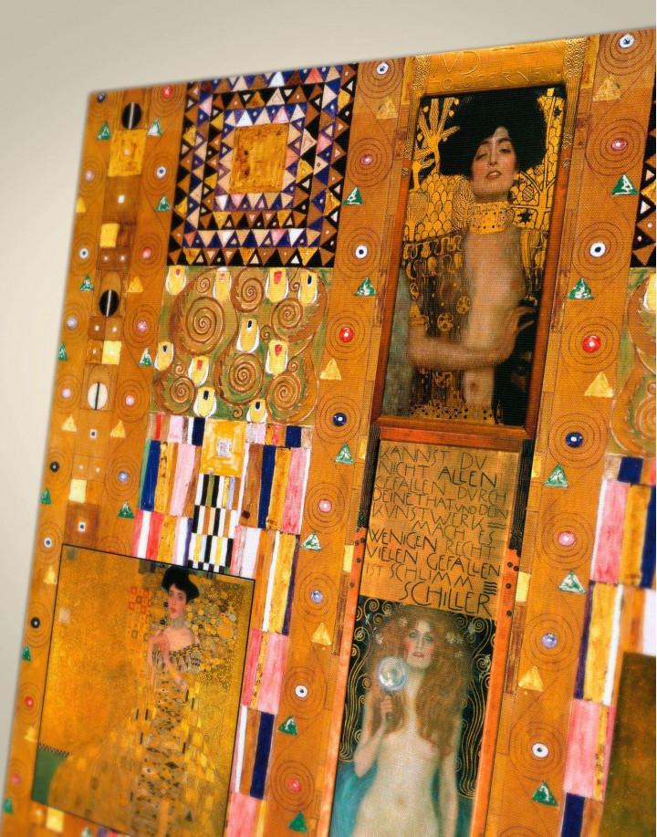 Gustav Klimt Paintings Set Canvas Wall Art - Image 3