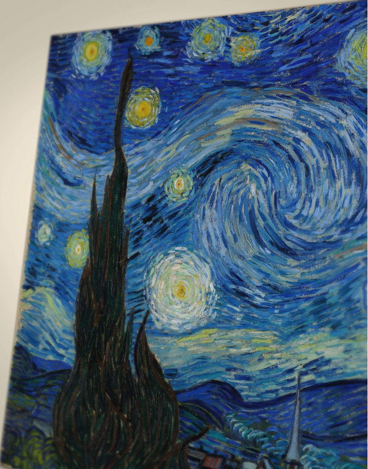 Starry Night Van Gogh Canvas Wall Art - Image 3