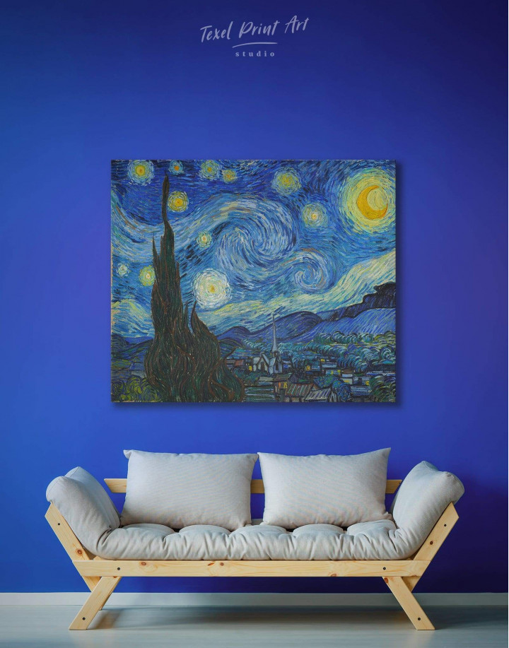 Starry Night Van Gogh Canvas Wall Art - Image 2