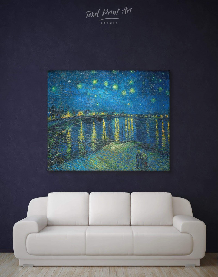 Starry Night Over the Rhone Van Gogh Canvas Wall Art - Image 2