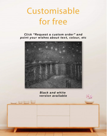 Starry Night Over the Rhone Canvas Wall Art - image 3