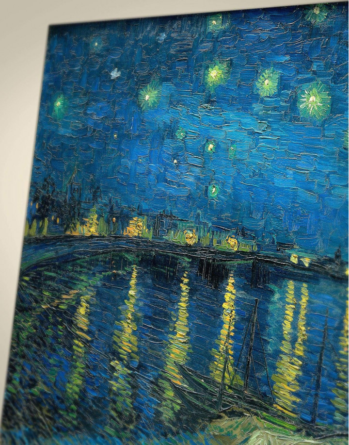 Starry Night Over the Rhone Van Gogh Canvas Wall Art - Image 3