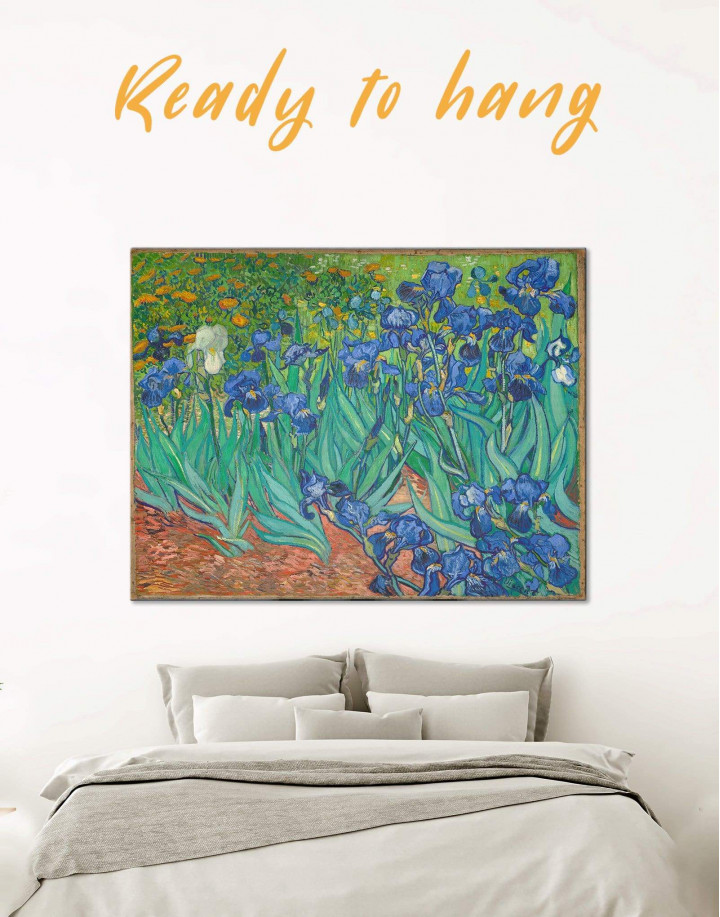 Irises by Van Gogh Canvas Wall Art - Image 0
