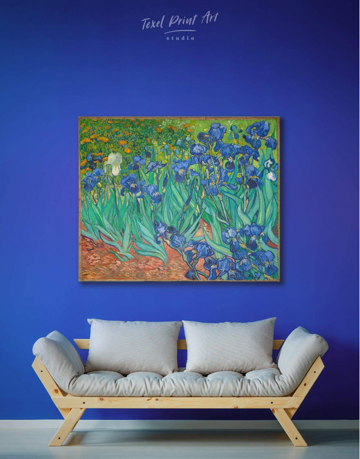 Irises by Van Gogh Canvas Wall Art - Image 2