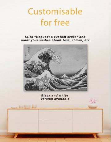 Great Wave Off Kanagawa Canvas Wall Art - image 3