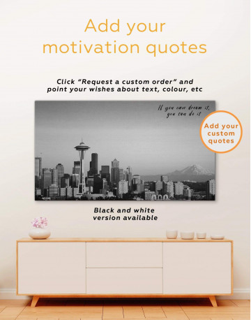 Seattle View Canvas Wall Art - image 3