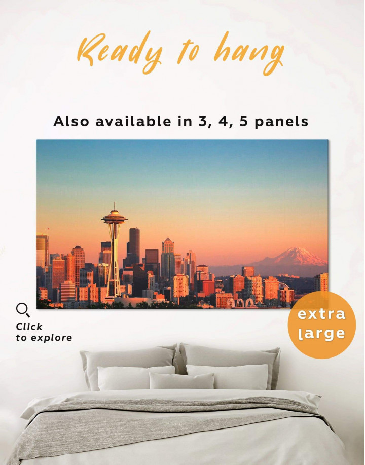 Seattle View Canvas Wall Art - Image 0