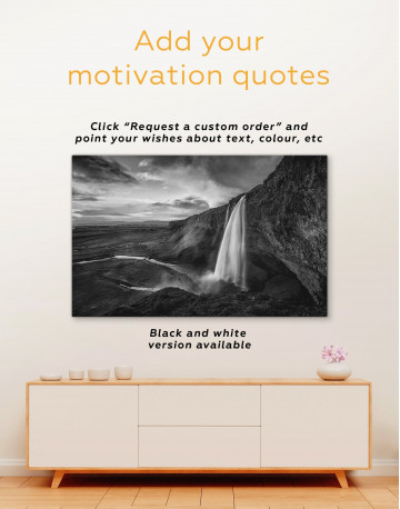 Fascinating Iceland Waterfall Canvas Wall Art - image 3