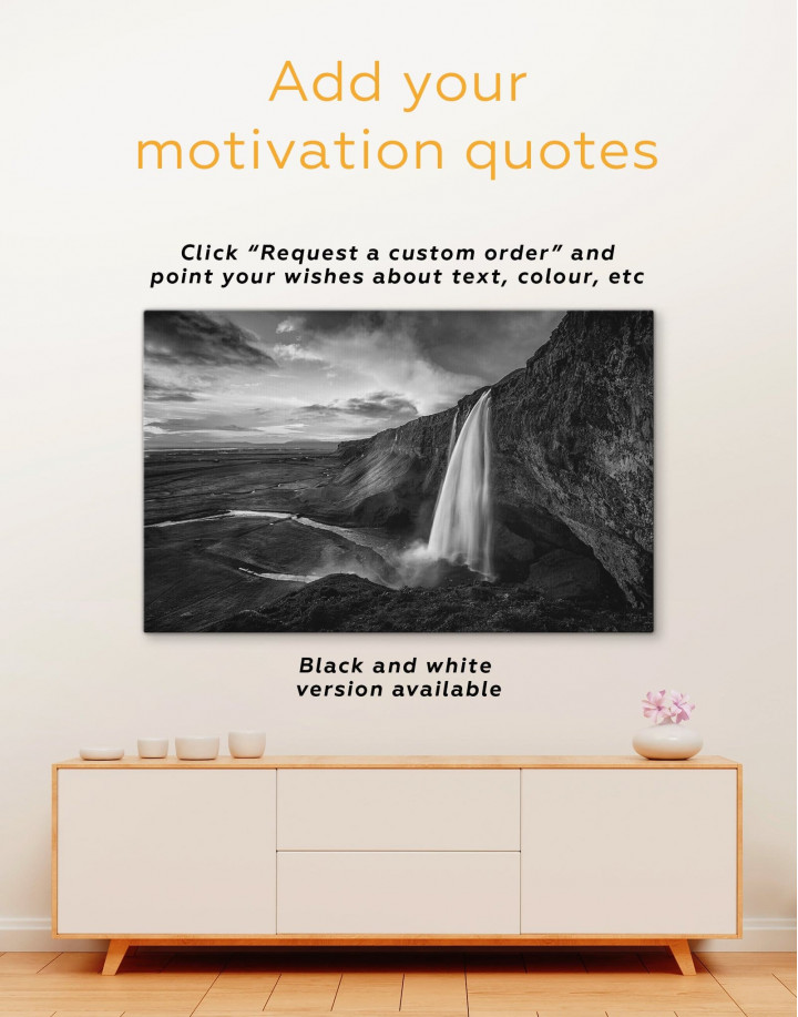 Fascinating Iceland Waterfall Canvas Wall Art - Image 1