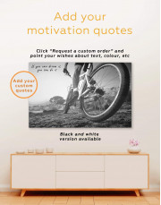 Off Road Cycling Canvas Wall Art - Image 1