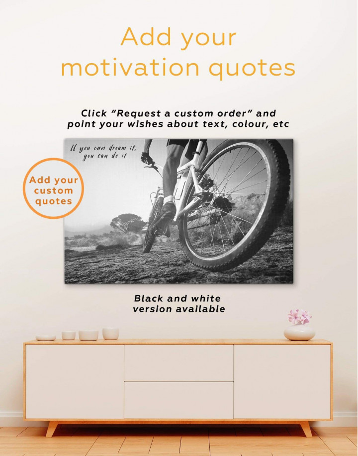 Off Road Cycling Canvas Wall Art - Image 3