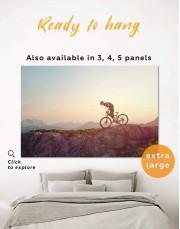 Mountain Cyclist Canvas Wall Art - Image 0