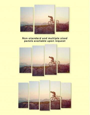 Mountain Cyclist Canvas Wall Art - image 2