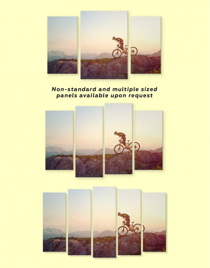 Mountain Cyclist Canvas Wall Art - Image 2