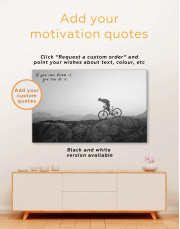 Mountain Cyclist Canvas Wall Art - Image 3