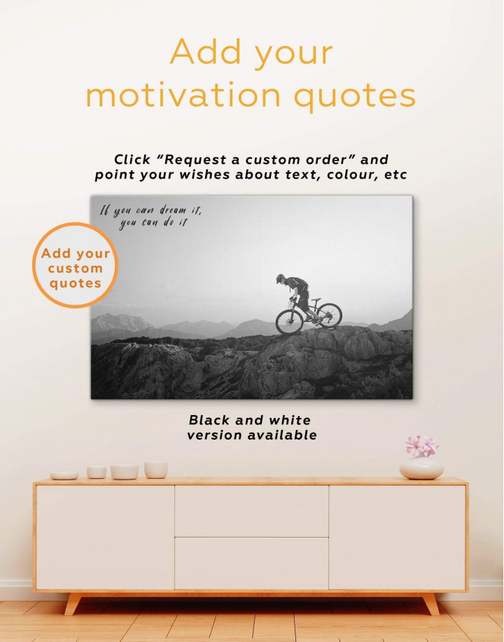 Mountain Cyclist Canvas Wall Art - Image 3
