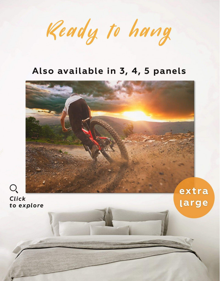 Bicycle Sporting Canvas Wall Art - Image 0