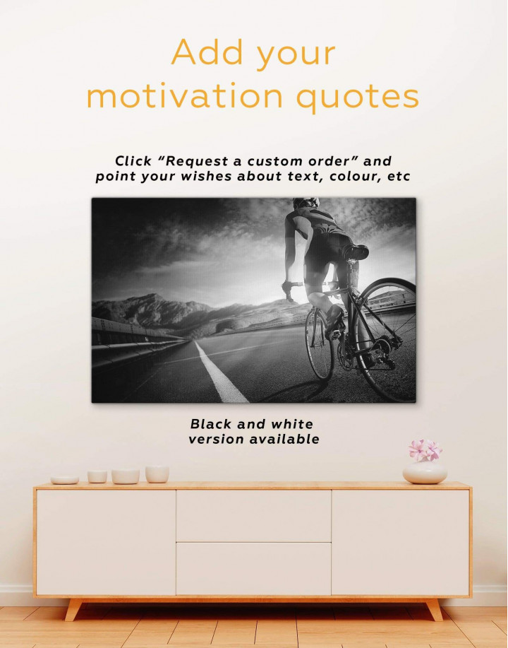 Bicycle Sport Canvas Wall Art - Image 2